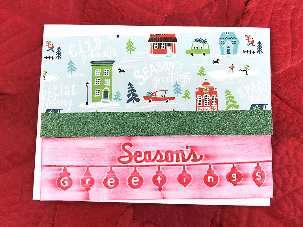Seasons Greetings Home For The Holiday Greeting Note Card Travel