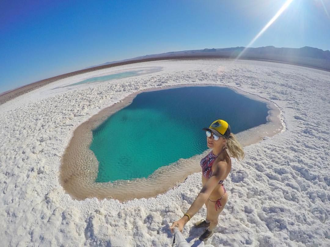 A @karlagordilho visitou as Lagunas escondidas de Baltinache ...
