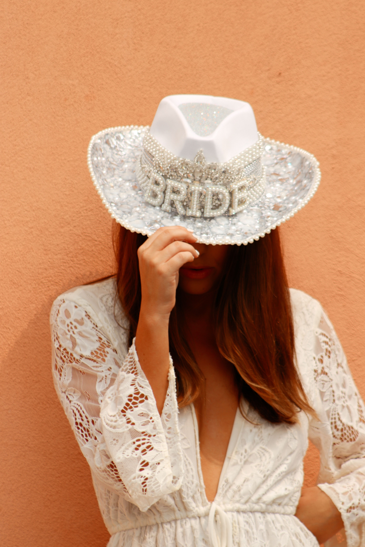 Rhinestone Bachelorette Cowboy Hat Cowgirl Bachelorette Parties Nashville Bachelorette Party Bridal Bachelorette Party