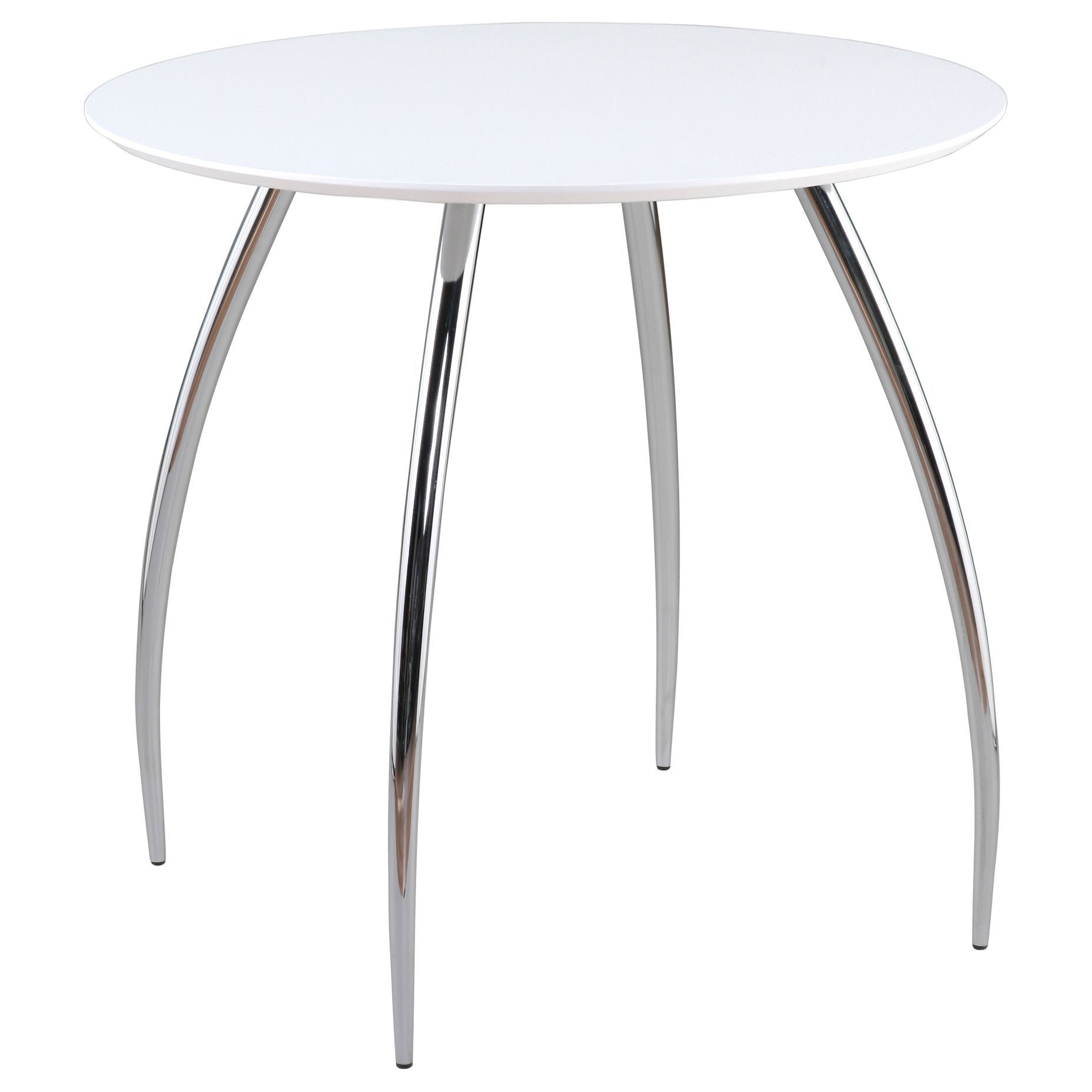 This Euro Style White Bistro Table Is Perfect For Entertaining Purposes. The  Round Table