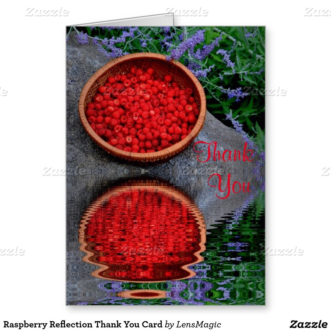 Raspberry Reflection Thank You Card Thank You Cards Pinterest