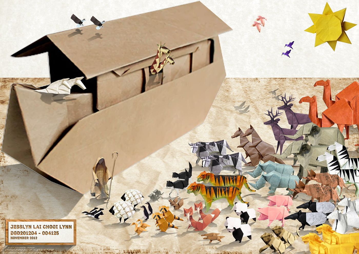A collage of images collected online to create the origami noahs a collage of images collected online to create the origami noahs ark theme malvernweather Image collections