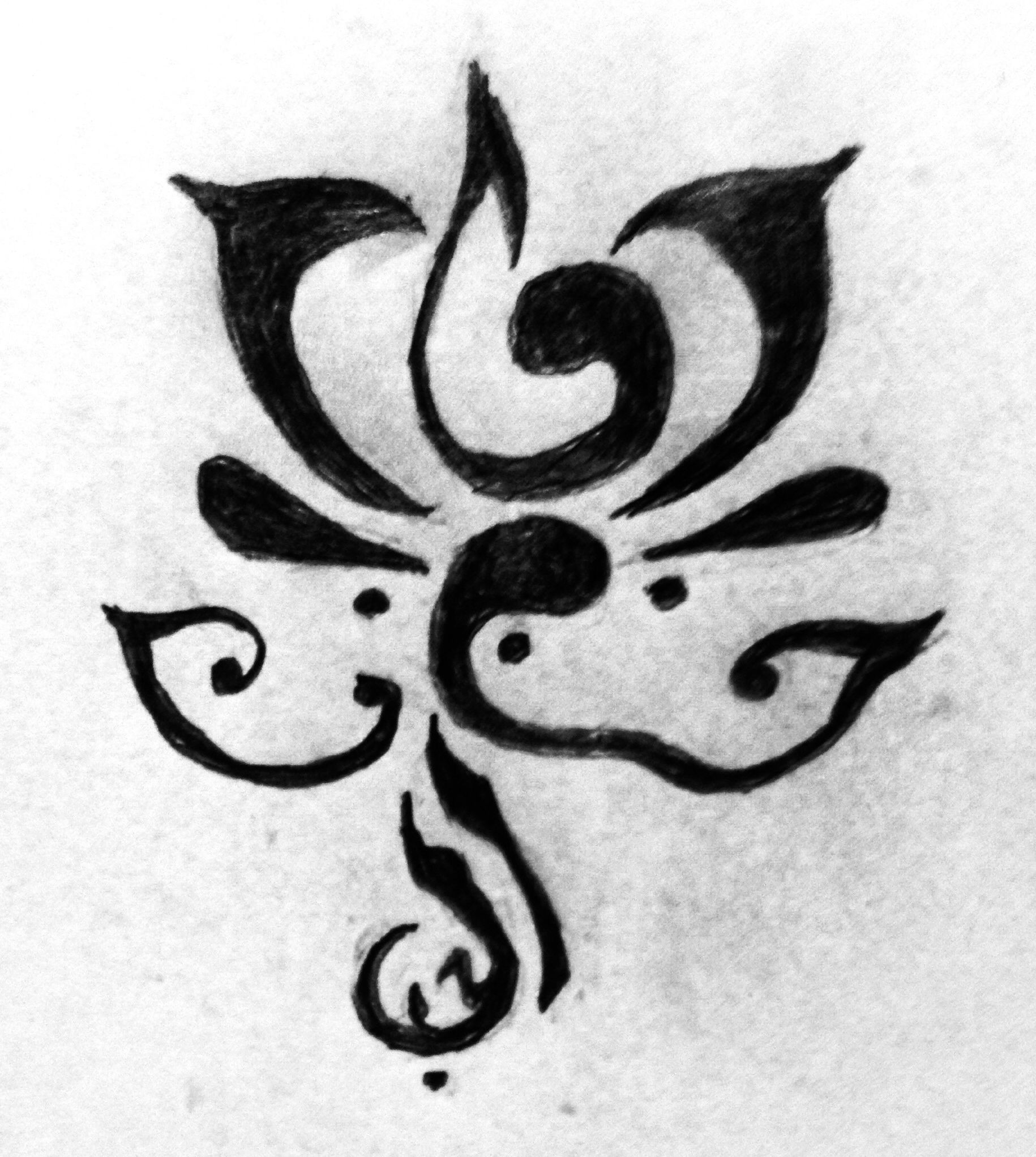 Lotus And Arabic Love Symbol Art Pinterest Symbols Tatoos And