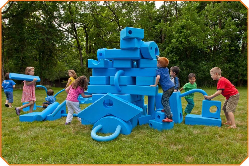 Big Blocks Set - 105 Pieces | Kids playground, Playground ...