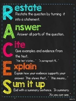 RACE & RACES Writing Response Poster Bundl #race & RACES Writing Response Poster Bundle