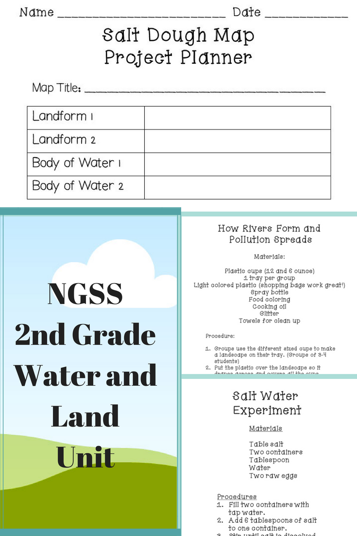 Ngss Second Grade Water And Land Unit Science Science Middle