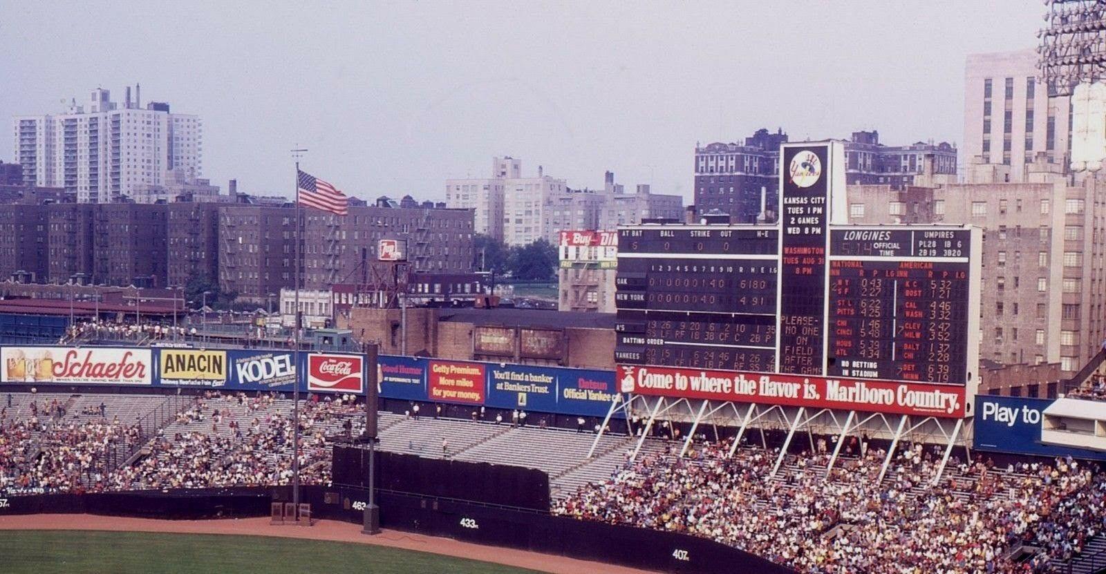 Pre Renovations Original Yankee St Dm Bronx N Y City N Y During 1971 M L B Season Date Game That Above Photo Was Marlboro Country Season Dates Marlboro