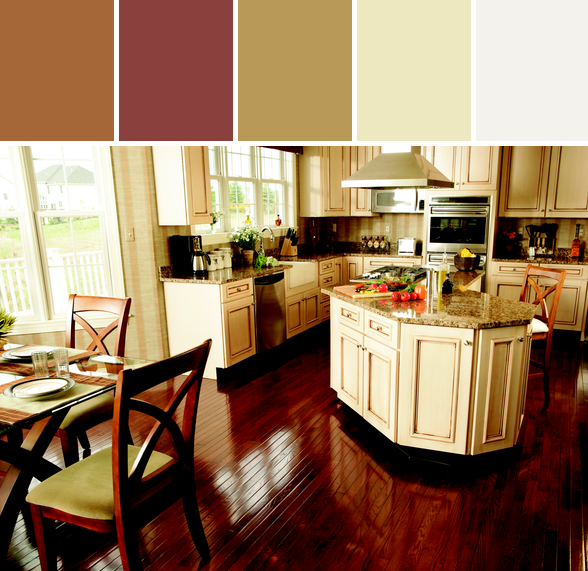 Warm And Cozy Kitchen Designed By Carpet One Floor Home Via