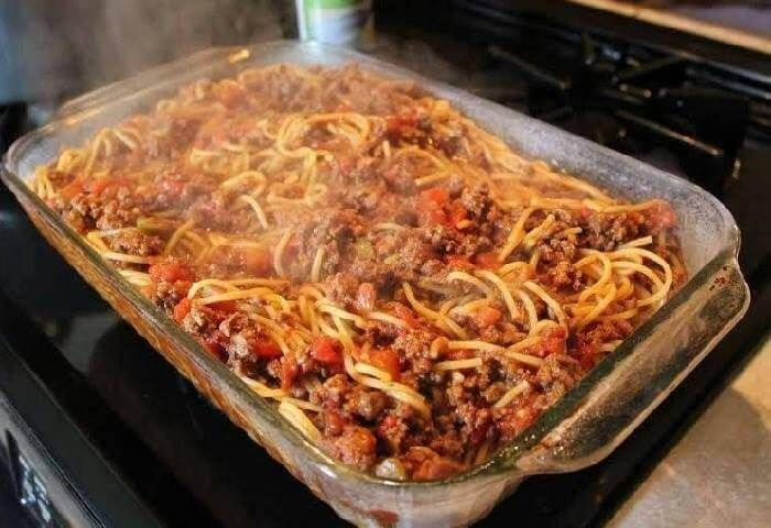 This Mexican Spaghetti recipe, also called fideo, is one that gets pulled out of the recipe box pretty frequently at my house (though I really don't need the recipe anymore at this point, LOL), and