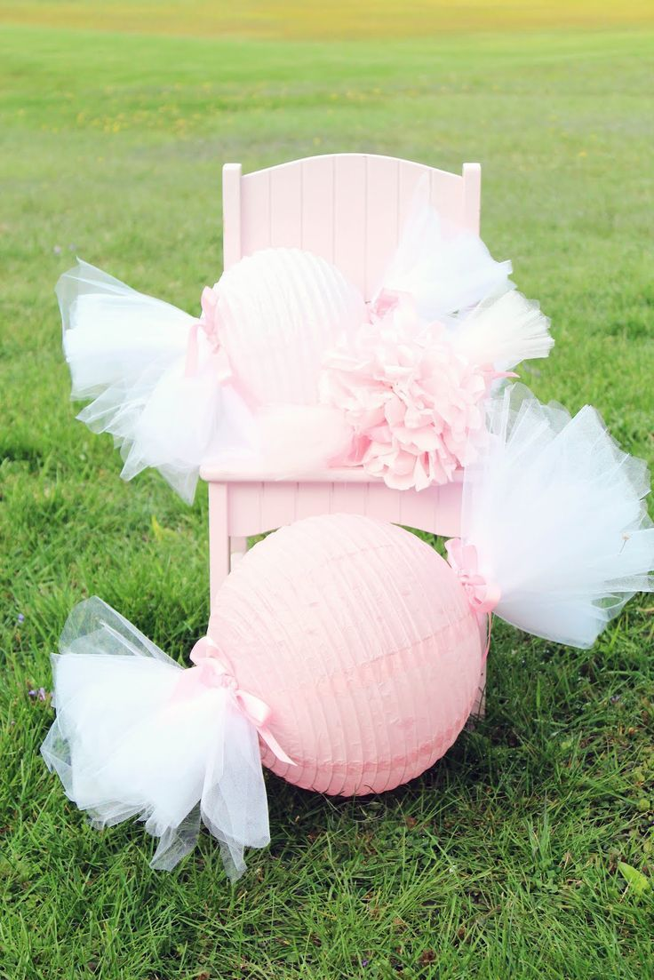 Cool Idea For A Candy Themed Partyte Candy Globes Baby
