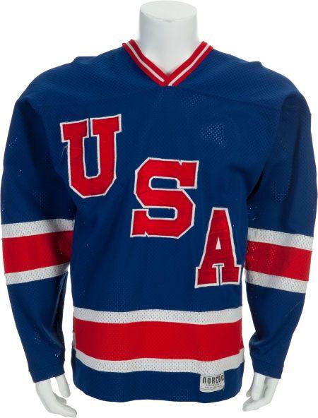 1979 80 Ken Morrow Game Worn Usa Hockey Jersey Usa Hockey Usa Hockey Jersey Hockey Jersey