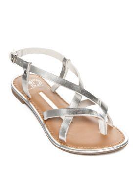 397d618ea042dd New Directions Silver Juliana Strappy Flat Sandal. New Directions Women s  ...