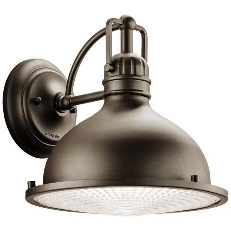 Kichler Hatteras Bay 10 1 4 High Bronze Outdoor Wall Light 3j726 Lamps Plus Led Outdoor Wall Lights Outdoor Wall Lighting Outdoor Wall Lantern