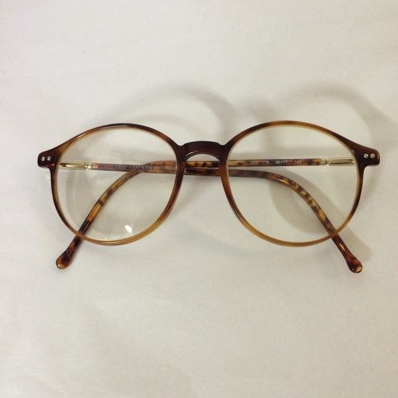7317293d979 90 s Vintage Giorgio Armani Glasses Super cool frames! If I wasn t so blind  I d keep them! By Giorgio Armani!  tooblindforstylishframessquaddddd Giorgio  ...