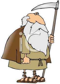 iclipart cartoon illustration of old father time for new year
