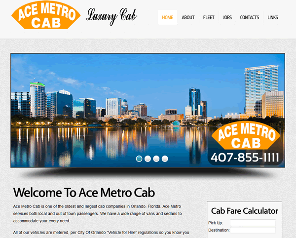 Ace Metro Cab Company Custom Website Design And Custom Script For Fare Calculator Check Out Our Other Designs At Http Www Road Trip Fun Vegas Trip Trip