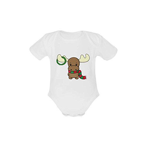 Infant Suits Reindeer Christmas Organic Cotton Short Sleeve One Piece Suit For Baby From 3 Months To 24 Months ** Click image to review more details.