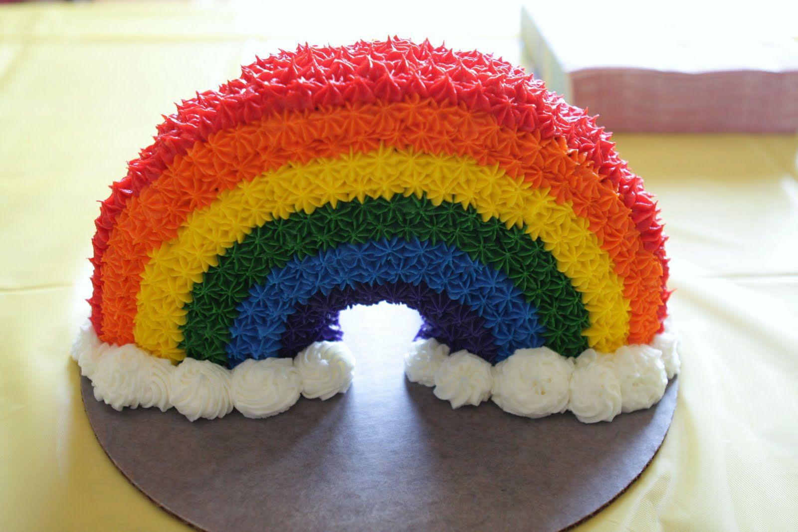 chocolate rainbow cake design