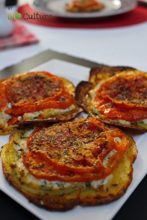 tartelette de pommes de terre et tomates une id e. Black Bedroom Furniture Sets. Home Design Ideas