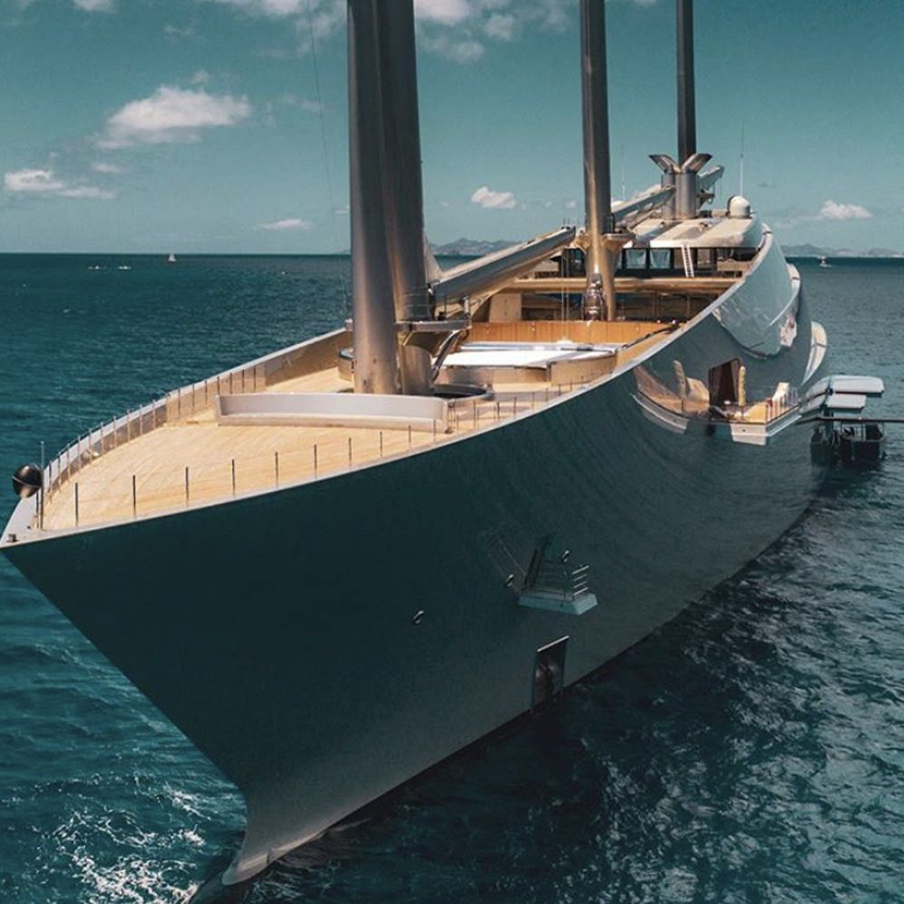 Starck On Instagram Sailing Yacht A Is A Huge Research
