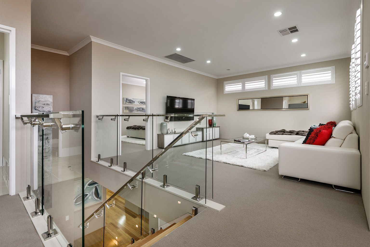 The Appella  Ben Trager Homes Perth Display Home Upstairs - Display home interiors