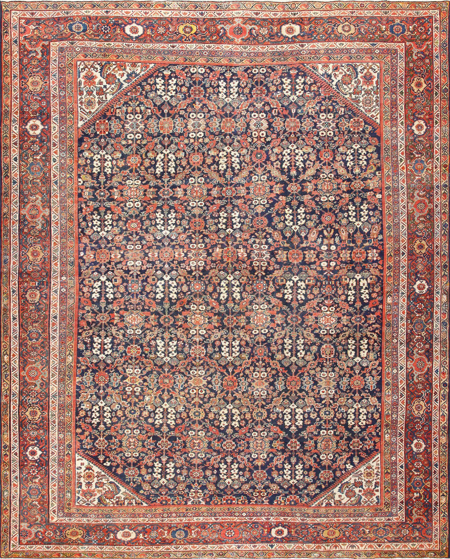 Blue Background Persian Antique Sultanabad Rug 50684 By Nazmiyal Sultanabad Rug Antique Persian Rug Antique Oriental Rugs
