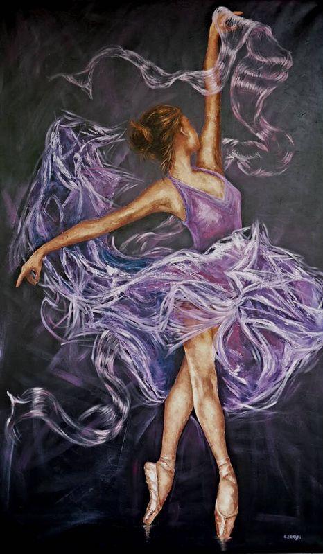 Balerin Yağlı Boya Ballerina Art Ballerina Painting Ve