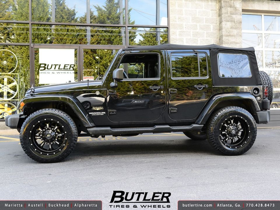 Jeep Wrangler With 20in Fuel Krank Wheels Jeep Jeep Wrangler