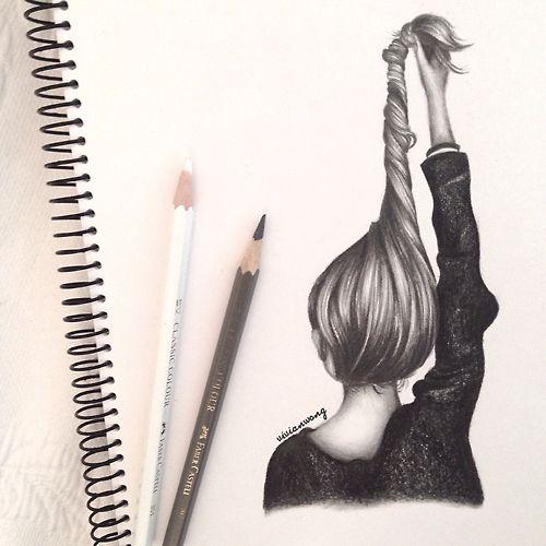 #pencil #art #hair #girl