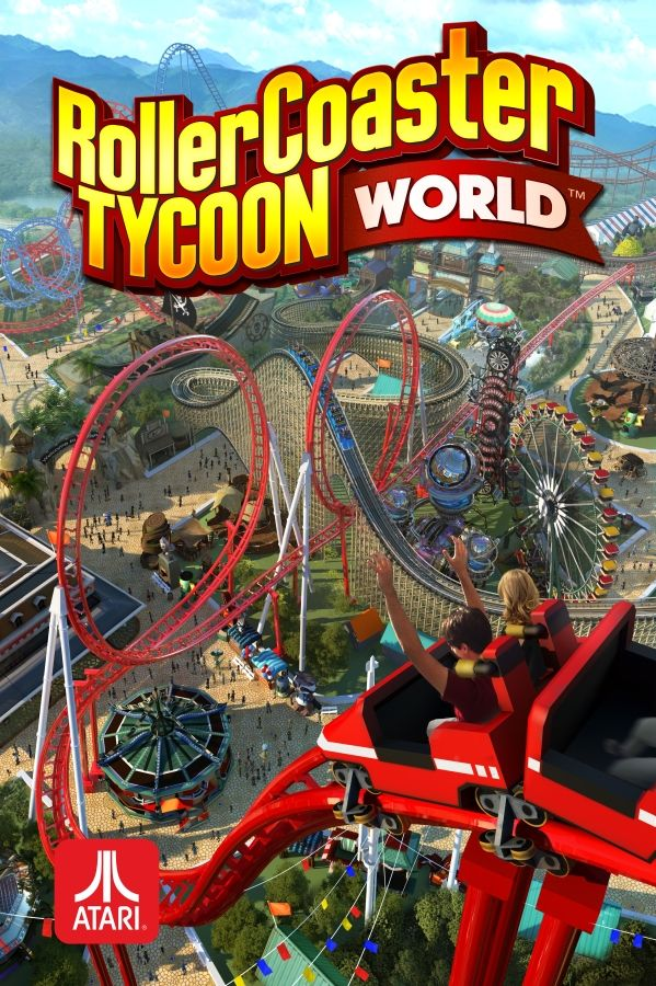RollerCoaster Tycoon World Official Box Cover