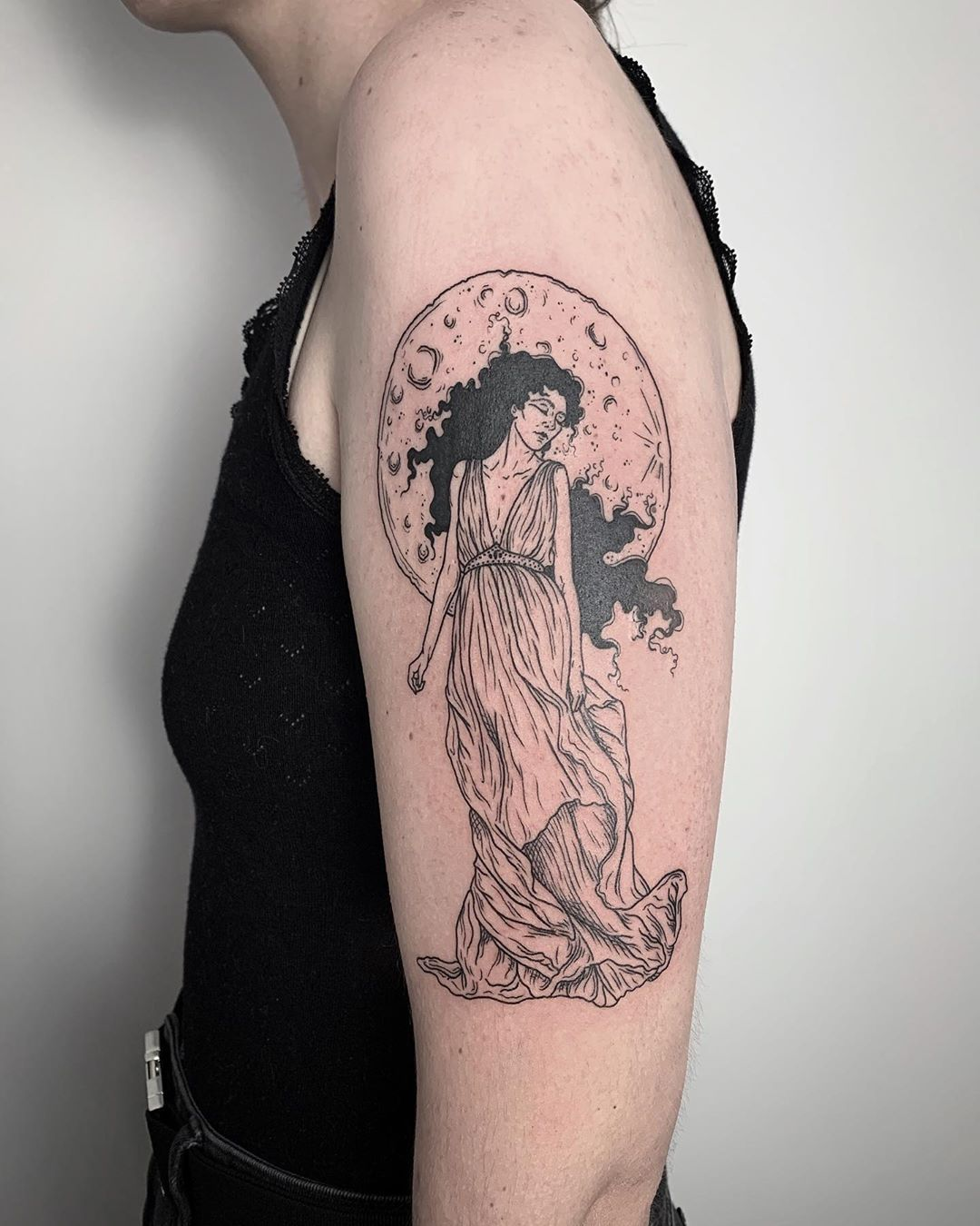 Baba Vesterka Tattoos On Instagram Moon Baby Thank You So Much For Coming To Melbourne And Being So Wonderful To Work With On Th Tattoos Instagram Wonder