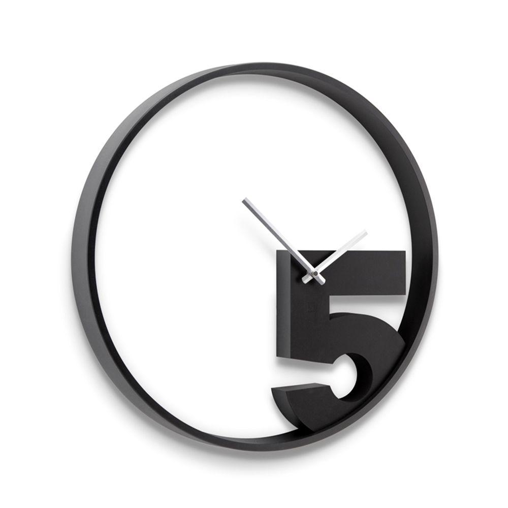 5 O Clock Dotandbo Com Wall Clock Modern Black Wall Clock Wall Clock