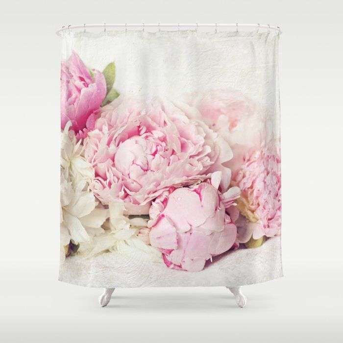 Tranquil Stripe Pink And White Shower Curtain Bedbathandbeyond