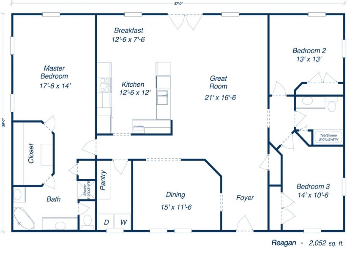Barndominium 30x50 floor plans furthermore house plans for Ranch style blueprints