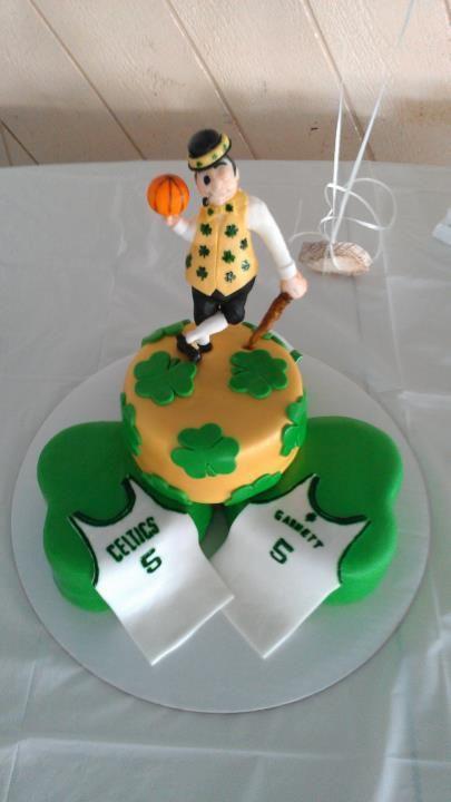 Boston Celtics Birthday Cake Front