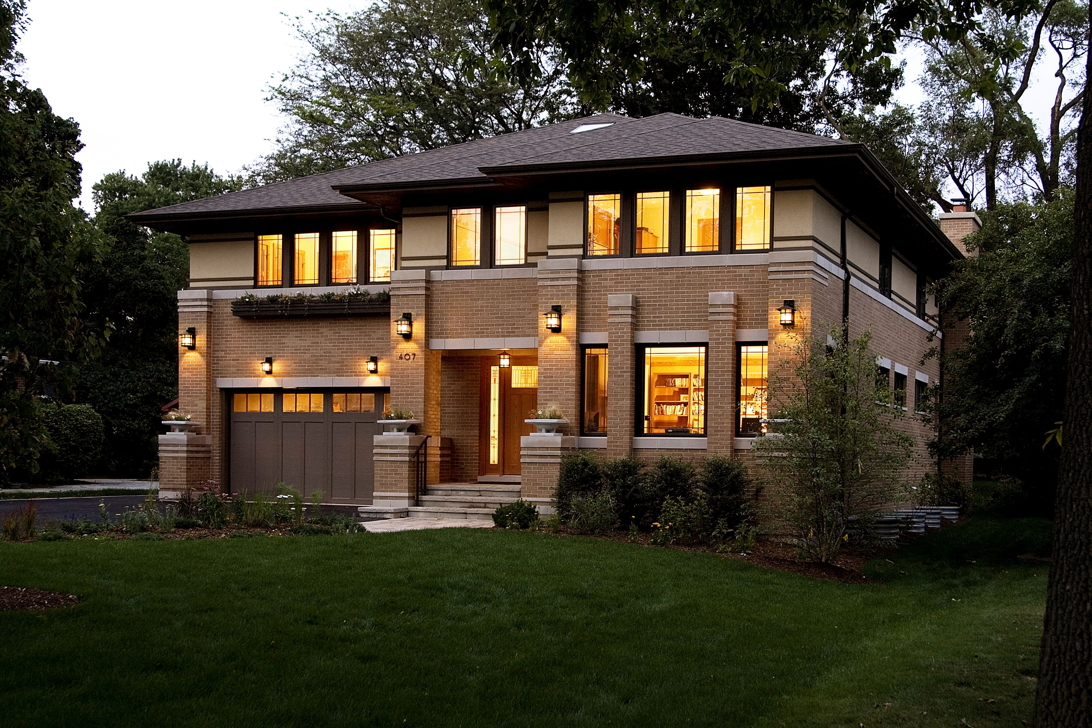 new prairie style house west studio frank lloyd wright inspired - Prairie Style Home Designs