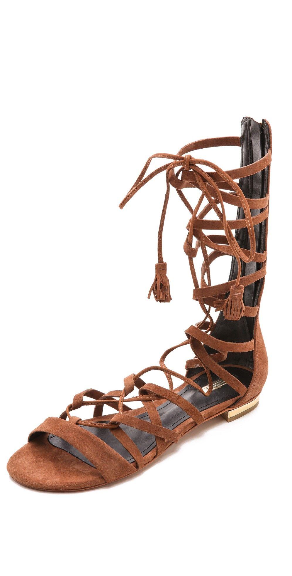 b3bbb7dda7f Schutz Billa Suede Gladiator Sandals