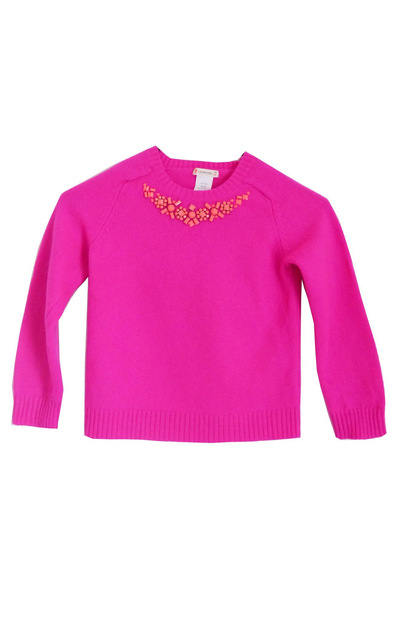 Girls J.Crew Pink Wool Sweater - Size 8 | Products | Pinterest ...