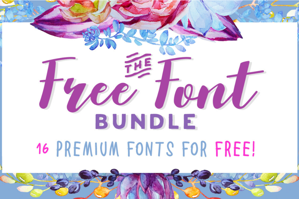 Download Free Font Bundle in 2020