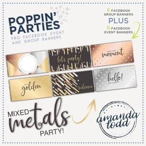 Grab this image pack set and have ready-made event and group banners for your mixed metal-themed Facebook parties! #directsales #thatdotlife #poppinparty #socialmedia #graphics #partytheme