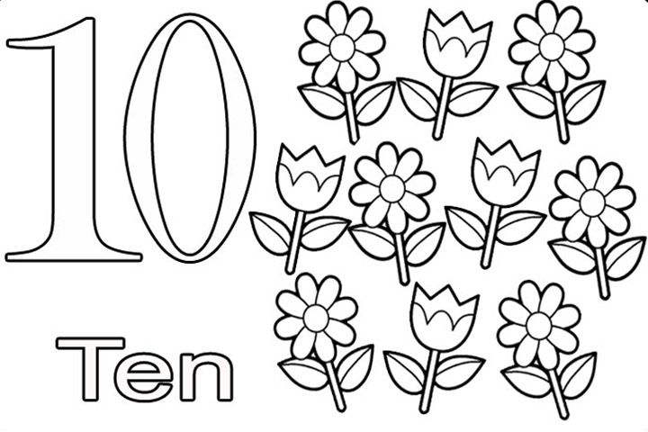 Top 21 free printable number coloring pages online for Color by number flower coloring pages