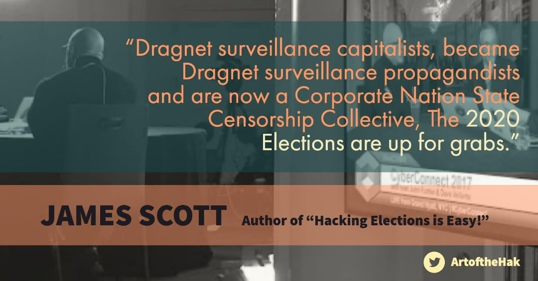 "James Scott. Author of ""Hacking Elections is Easy""    #blackbox #evote #HackingElections #Elections #Hacker #Cybersecurity #infosec #security #hacking #cool #instapic #instacool #instagood #JamesScott #CyberSecurity #InfoSec #NationalSecurity #USA #Defense #Elections #Elections2020"
