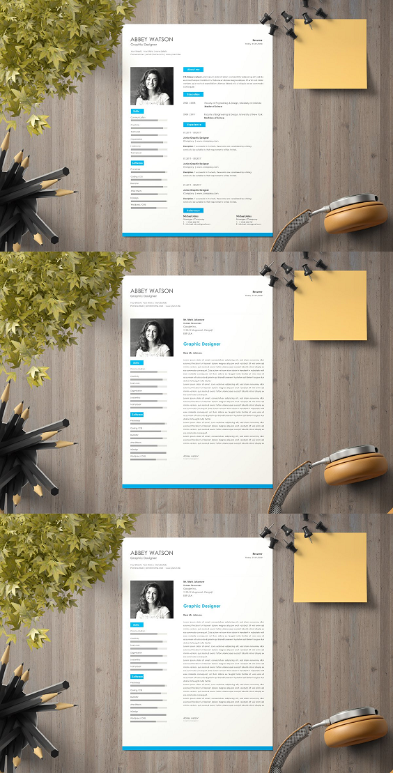 details includes  2 page resume templates  if you need more pages just email me   cover letter