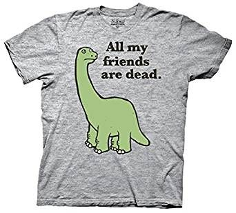 Amazon Com All My Friends Are Dead Dinosaur Men S T Shirt