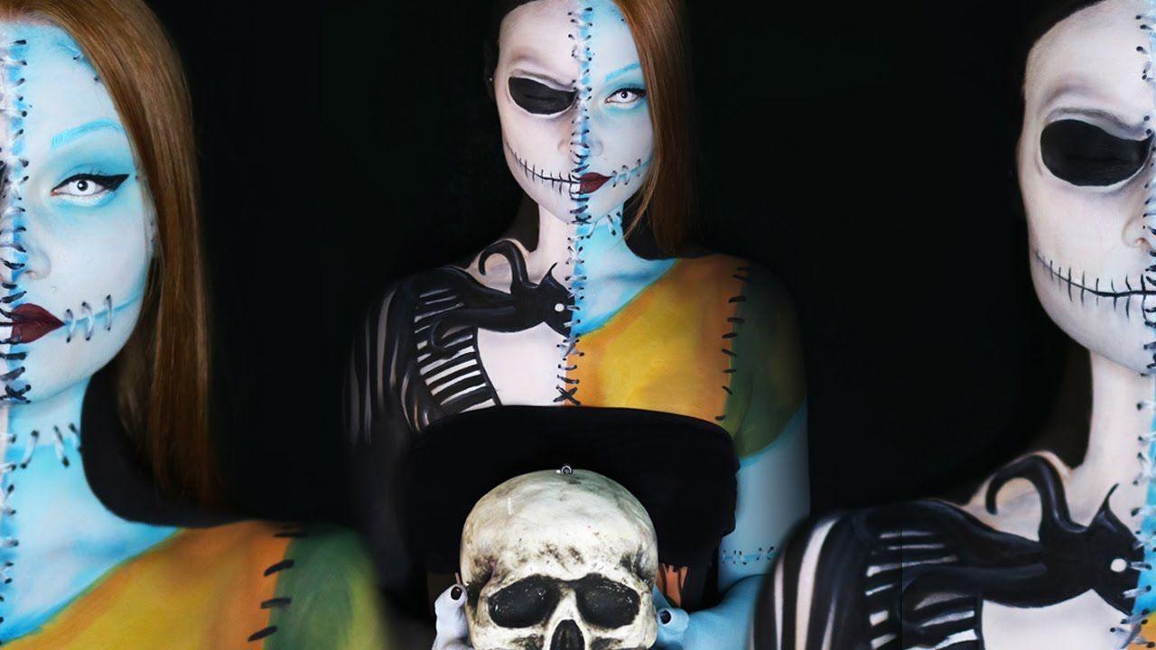 Nightmare Before Christmas Jack and Sally Makeup Tutorial ...