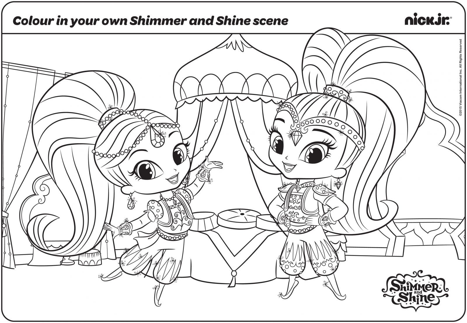 30 Magical Shimmer And Shine Coloring Pages Coloring Pages