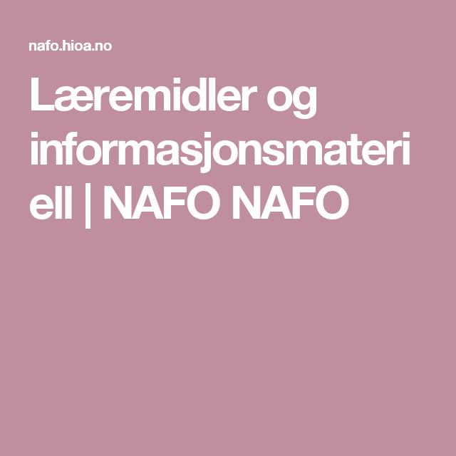 Læremidler og informasjonsmateriell | NAFO NAFO
