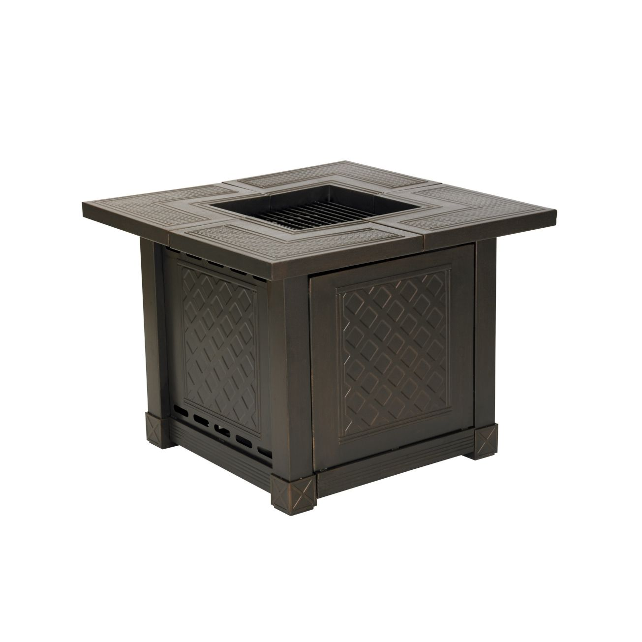 Attractive Living Accents Outdoor Fireplace Part - 7: Living Accents® Herrington Square Decorative Table Gas Fire Pit - Outdoor  Fireplaces - Ace Hardware