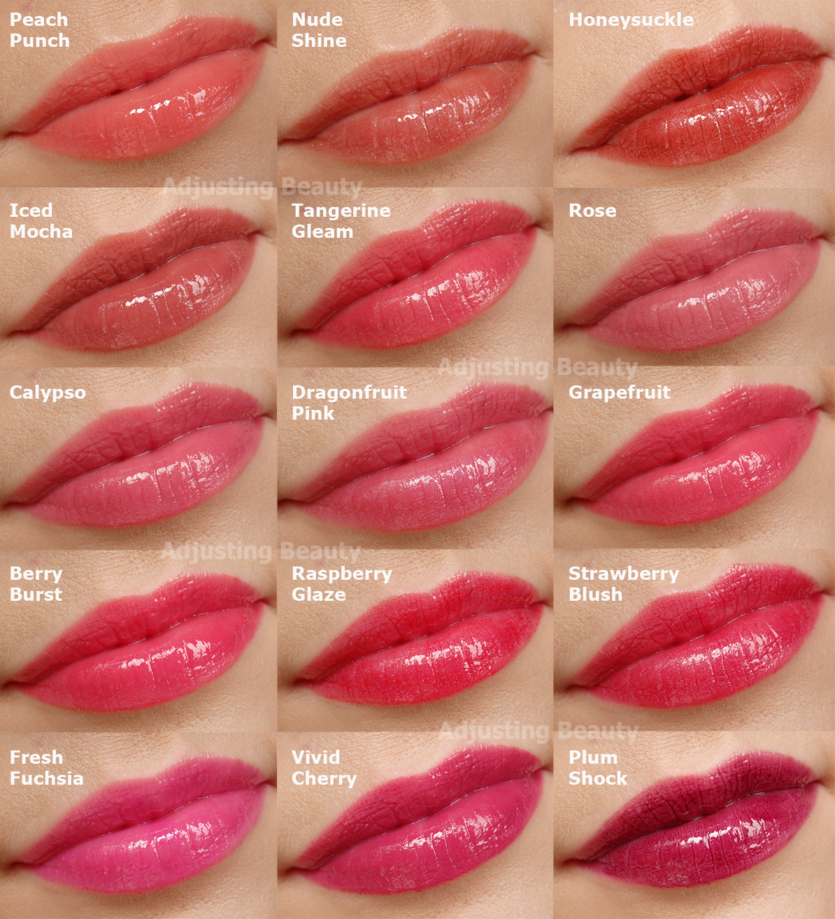 Review And Swatches Of Avon Shine Burst Gloss Sticks All Shades