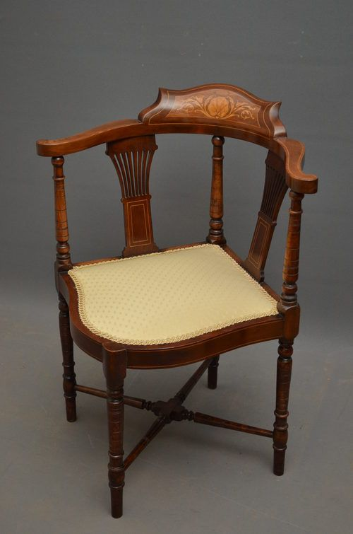 Edwardian Corner Chair - Antiques Atlas - Edwardian Corner Chair - Antiques Atlas Antique Barrel Chair